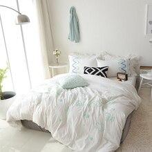 100% Cotton Soft fabric Embroidered Cute Bedding set 4/6Pcs King Queen Twin size Kids Girl Bed sheet set Duvet cover Pillow sham