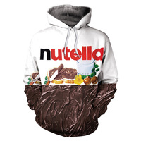 BRNAD Hoodies Nutella Pattern Men Women Hoodies Couples Casual Style 3D Print Personality Autumn Winter Sweatshirts