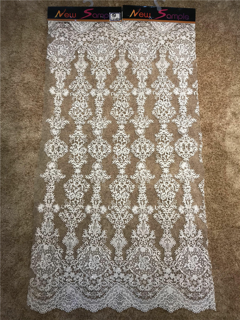 2018  latest African Tulle lace French Net Beaded Lace Fabric For Wedding Embroidery African lace fabric 5 YARDS2018  latest African Tulle lace French Net Beaded Lace Fabric For Wedding Embroidery African lace fabric 5 YARDS