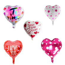 1pc 18inch Large I Love You Heart Balloons Wedding Decoration Happy Birthday Party Adult  Supplies