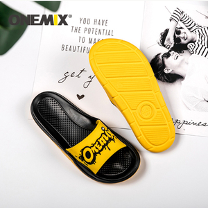 Image 5 - ONEMIX Summer Men Beach Sandals Unisex Slippers Personality Graffiti Skin Friendly Indoor Outdoor Women Wading Flats Shoes Men
