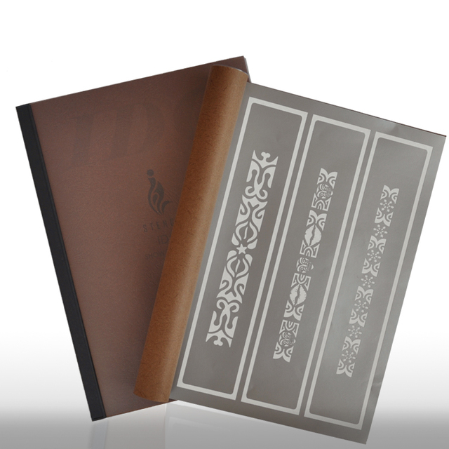 75 Designs Temporary Airbrush Tattoo Stencil Book Airbrush Stencils Template Booklet Book 20