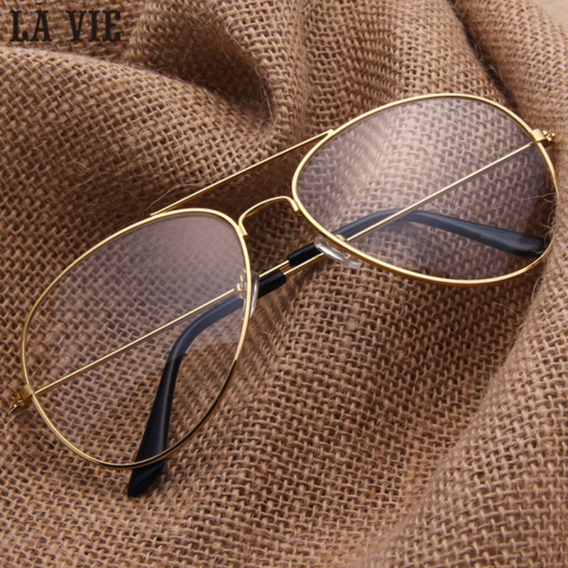 Optical Gold Pilot Glasses Frames Women Men Brand Classic Glasses ...