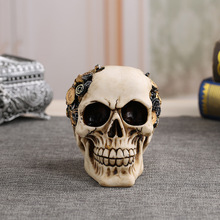 MRZOOT Resin Craft Home Decorations Skeleton Skull Bullet Model Punk Style Decoration Personalized Ornaments Bar Decor