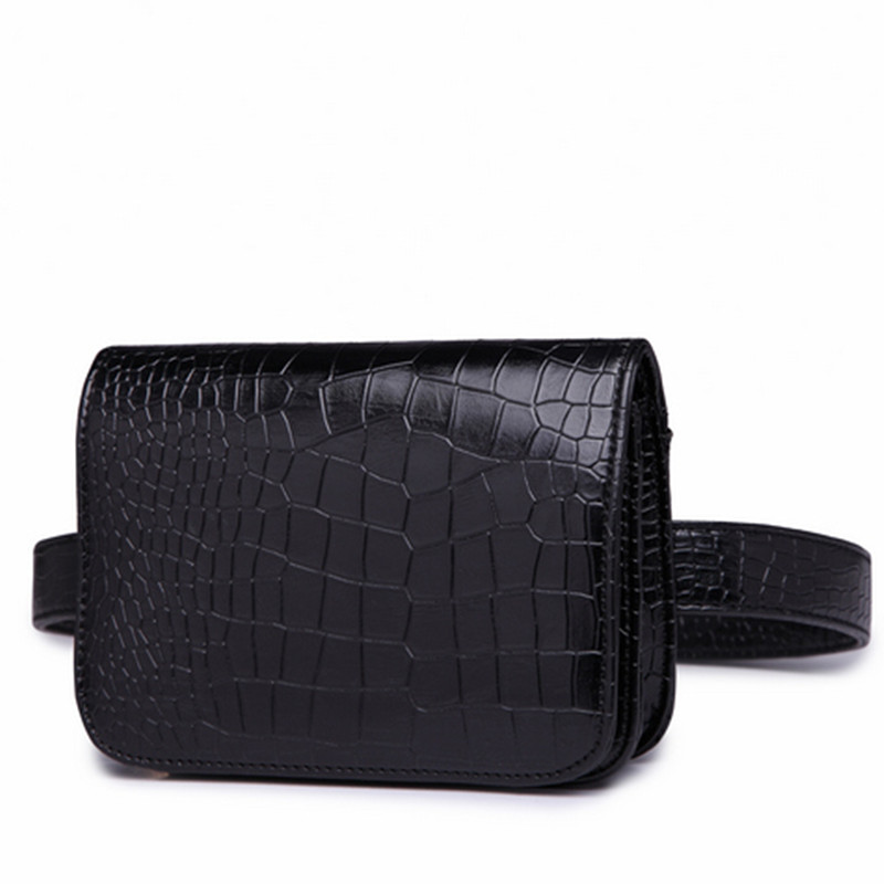 Mode 2017 Kvinnor PU Läder Waist Pack Väska Ladies Alligator Mini - Bälten väskor - Foto 2