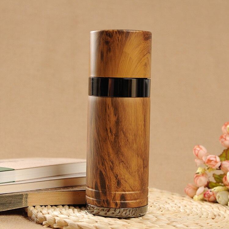 Bouteille de thermos de thé en bois poire créative 330 ml en alliage de zinc sable violet isolation magnétique intérieure bouilloire flacons sous vide livraison gratuite