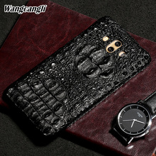 Wangcangli Hakiki Deri telefon kılıfı için Huawei Mate 10 Timsah kafatası desen Yarım paketi telefon kapak telefon koruma çantası
