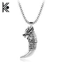 Bán buôn 10 cái jewelry wolf răng pagan amulet fenrir vikings đồ trang sức siêu nhiên viking mặt dây chuyền pagan phong cách Hip hop jewelry