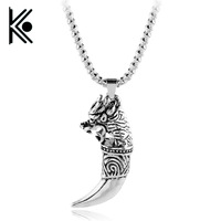 wholesale 10pc jewelry wolf tooth pagan amulet fenrir vikings supernatural jewelry viking pendant pagan style Hip hop jewelry