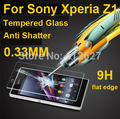 0.33mm Hot for Sony Xperia Z1 Tempered Glass Screen Protector Anti-shatter Explosion Proof for Sony Xperia Z1 L39H