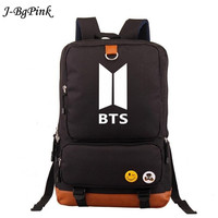 NEW Bangtan Boys BTS backpack,korean kpop stars school bag , boys girls canvas book laptop satchel army rucksack