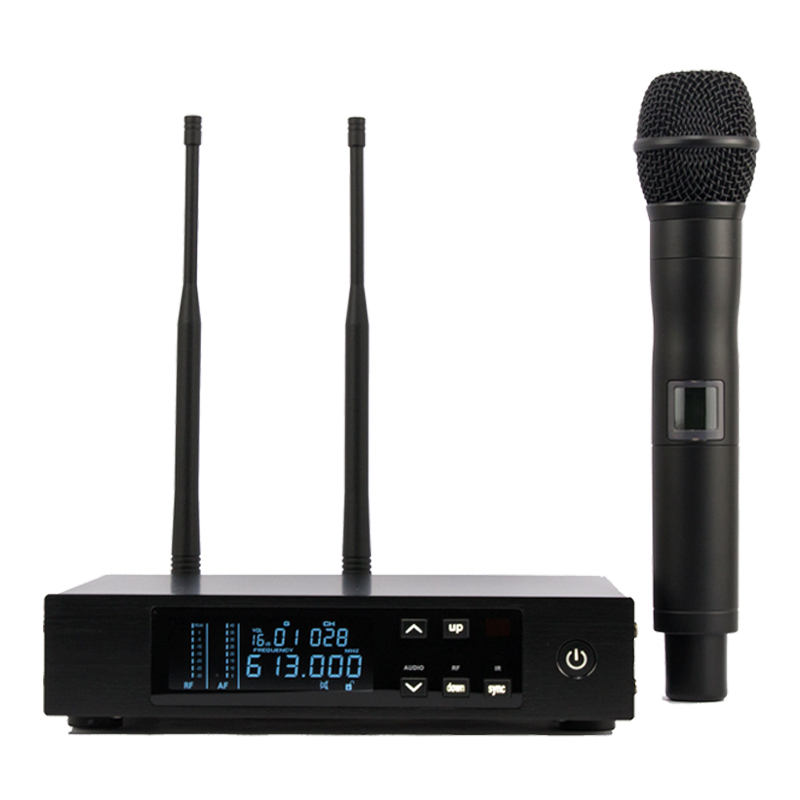 top quality 2 antennas for stage true diversity uhf digital wireless microphone system single. Black Bedroom Furniture Sets. Home Design Ideas