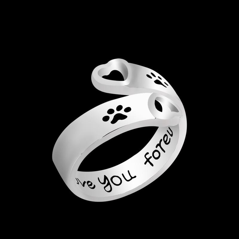 მოდა Hollow Pet Dog Paw Foot ბეჭდვის - მოდის სამკაულები - ფოტო 2