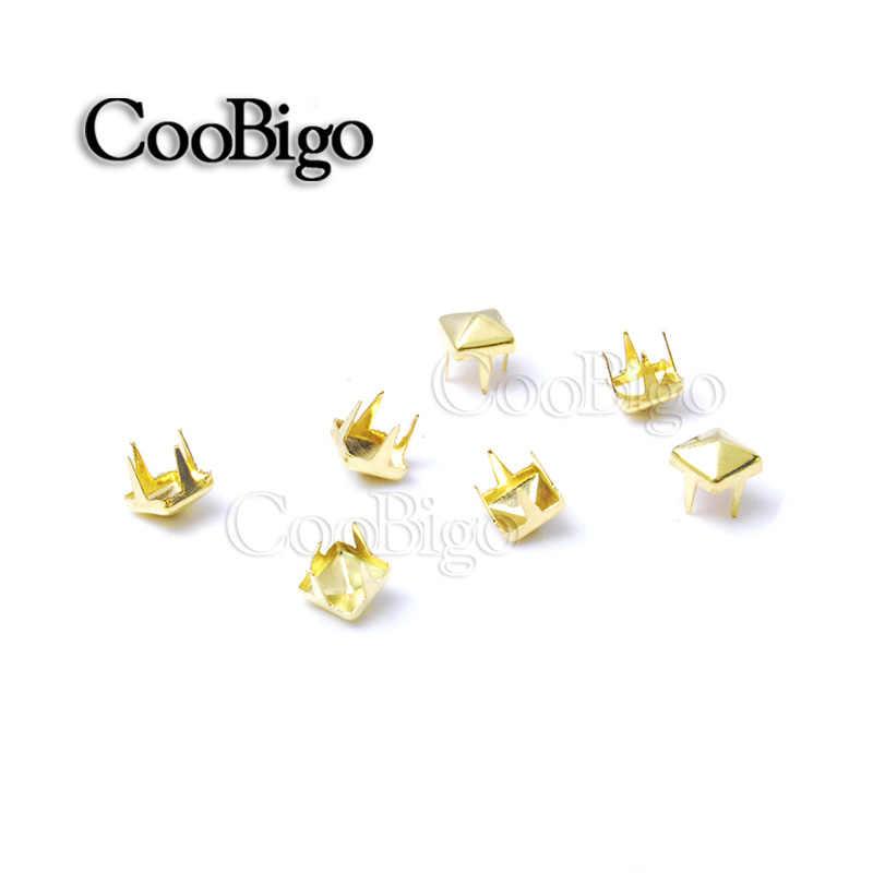 200 piezas., 3mm, tachuelas de pirámide, remaches, puntas de clavos, Punk Rock, pulseras DIY, bolsos, zapatos, accesorios de ropa
