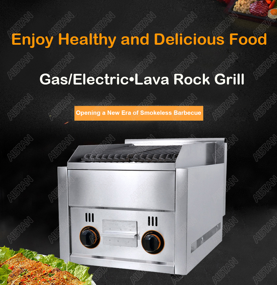 FY977 Commercial stainless steel lava rock grill for bbq equipment 3