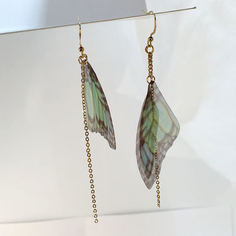 New Design Handmade Ethereal Butterfly Drop Earrings Long Chain Tassel Drop earring For Women Party Accessories