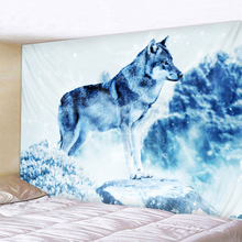 Lone Wolf  Wall Hanging Tapestry Sheets Home Decorative Beach Towel Yoga Mat Blanket Table Cloth