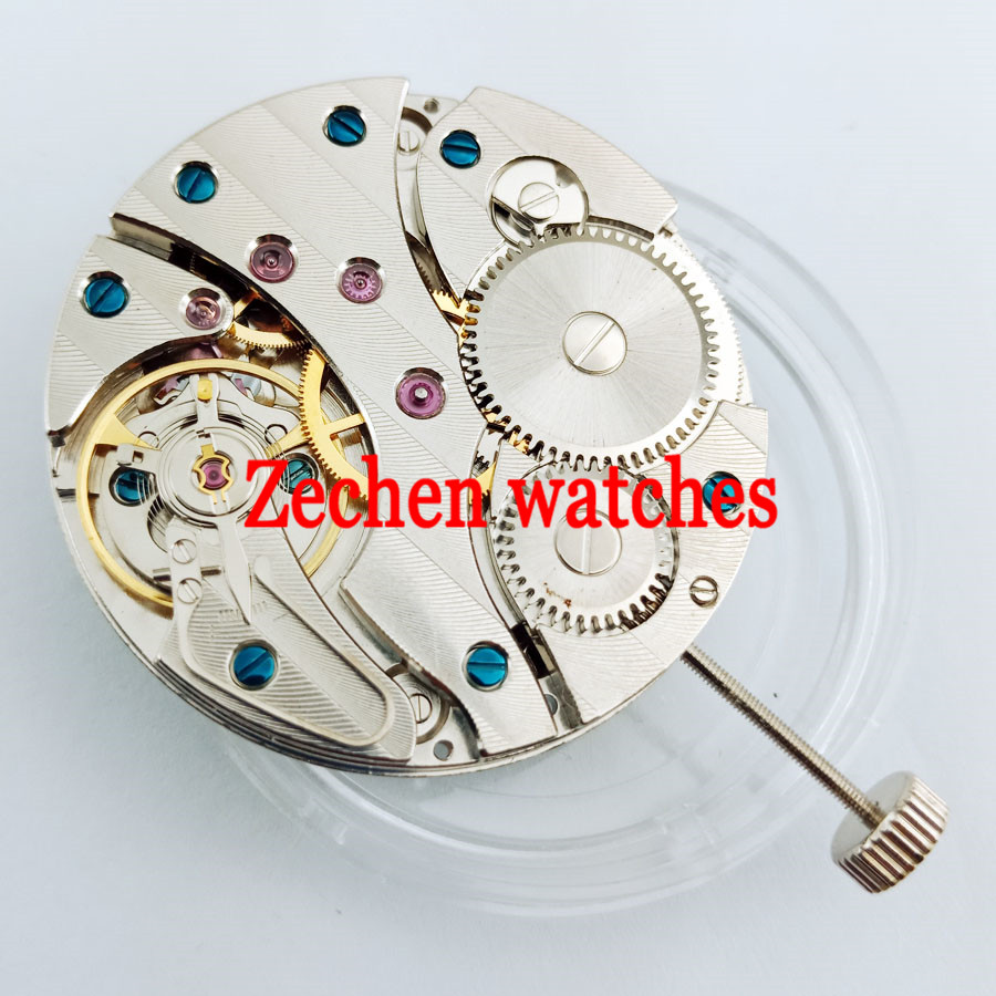 watch movement SEA GULL 17 Jewels fit parnis mens watch Swan Neck 6497 Hand winding Movement цена и фото