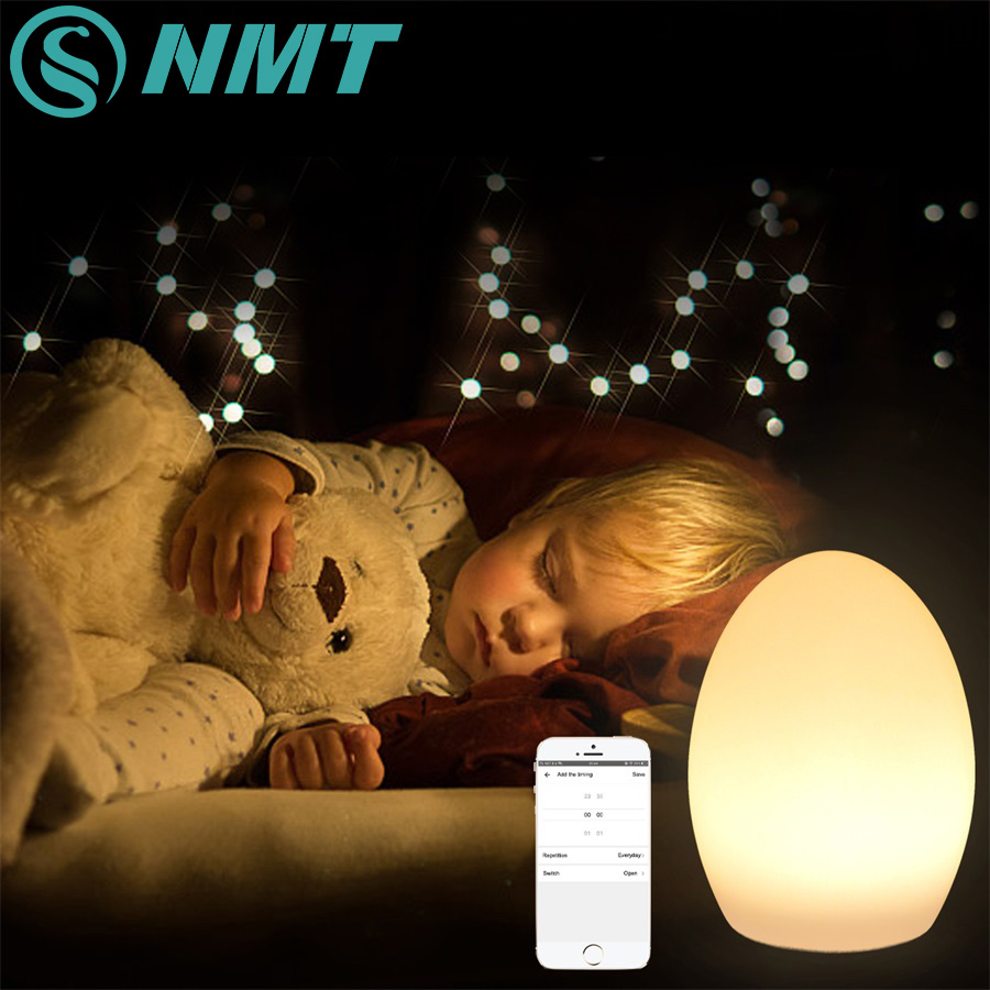 Smart Wifi Night Light App Voice Touch Control Egg RGB USB Led Lamp Waterproof Table Light for Home and Living Room free shipping colorful led egg bar table lamp break resistant rechargeable led glow egg night light for christmas