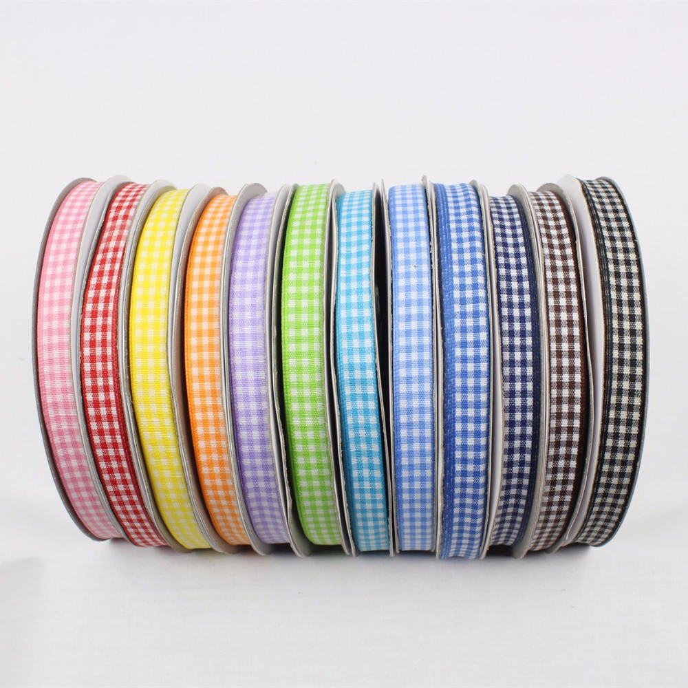 GZ10MM , Cotton plaid ribbon 10mm , <font><b>50</b></font> yards , DIY handmade materials , Clothing accessories accessories headdress image
