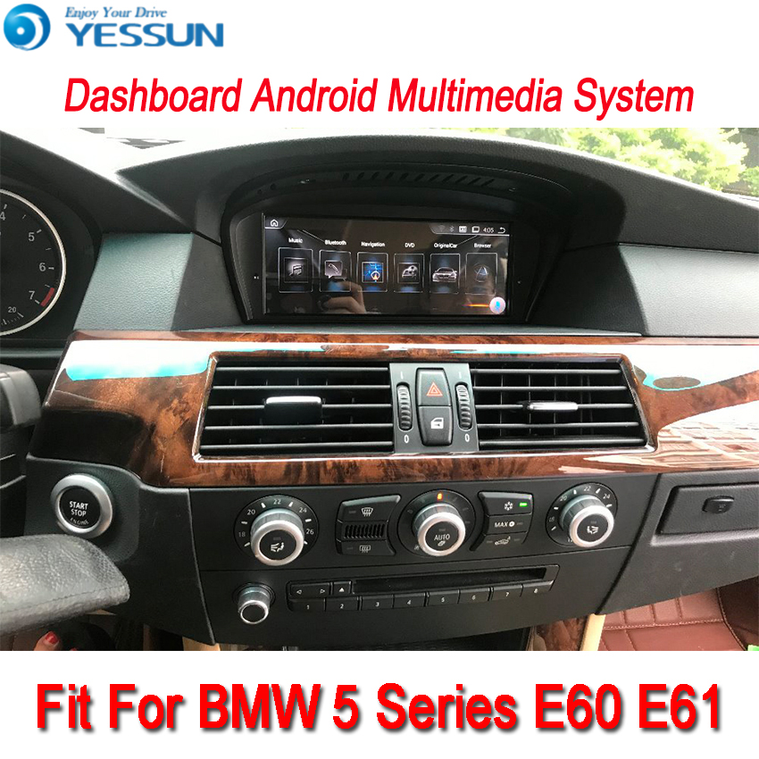 US $515 9 23% OFF|YESSUN For BMW 5 Series E60 E61 2003~2010 Android Car  Navigation GPS HD Touch Screen Stereo Player Multimedia Video Radio Navi-in