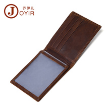 JOYIR Vintage Genuine Leather Men Driver's License Wallet Credit Card Holders Thin Purse Card Holder for Male Gift K004