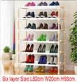 10 pcs Zes layer houten schoenenrek 62 cm x 20 cm x 93 cm