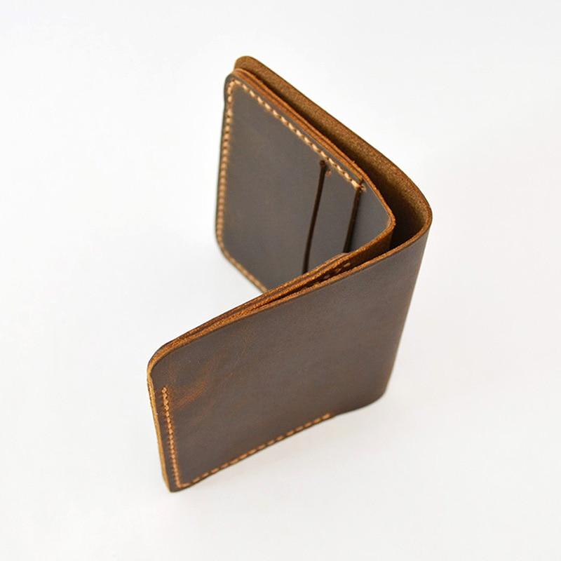 Nobrand Handmade Designer Wallet Men Genuine Leather Handmade Leather Goods Bifold Short Wallet Male Clutch Cuzdan