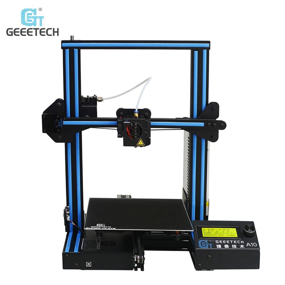 D'origine Geeetech A10 Open Source Rapide L'assemblée 3D Imprimante Impression Accur Une Bonne Adhérence Plate-Forme LCD2004 Affichage 220*220*260