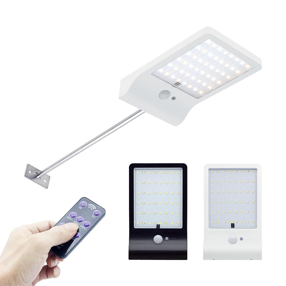 Verbesserte 48 leds Solar Licht PIR Motion Sensor Mit Controller Wasserdichte IP65 LED Solar Lampe Für Garten Im Freien Wand Straße