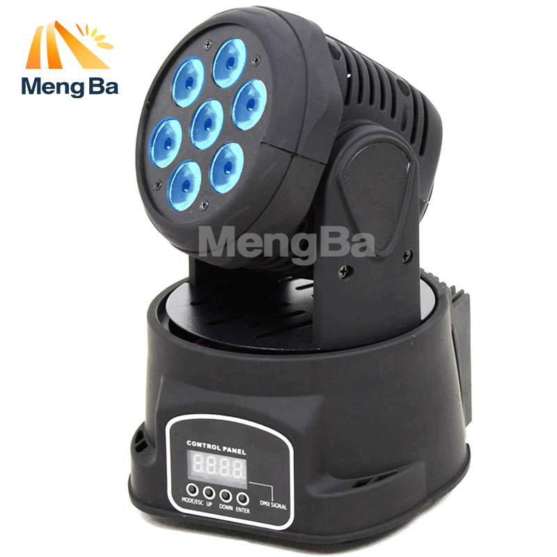 MengBa Led Moving Head Wash 7x12w Mini Music Sound Light 7*12w Stage Christmas Party lumiere Laser Show Disco Dj Dmx Lamp Rgbw laser head owx8060 owy8075 onp8170