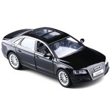 1:32  A8 alloy car simulation model children's toys MS-103205 bulk black for  AUDI