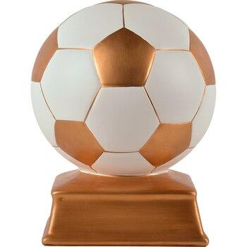 Creative football modeling resin sculpture Sports spirit football trophy sculpture desktop decoration