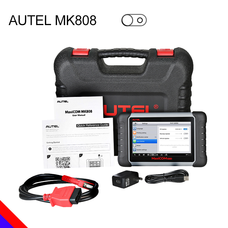 Autel MaxiCOM MK808 אבחון כלי MX808 בלעדי סוכן Autel עבור MK808 100% מקורי שמן/EPB/SAS/BMS איפוס אוטומטי אבחון