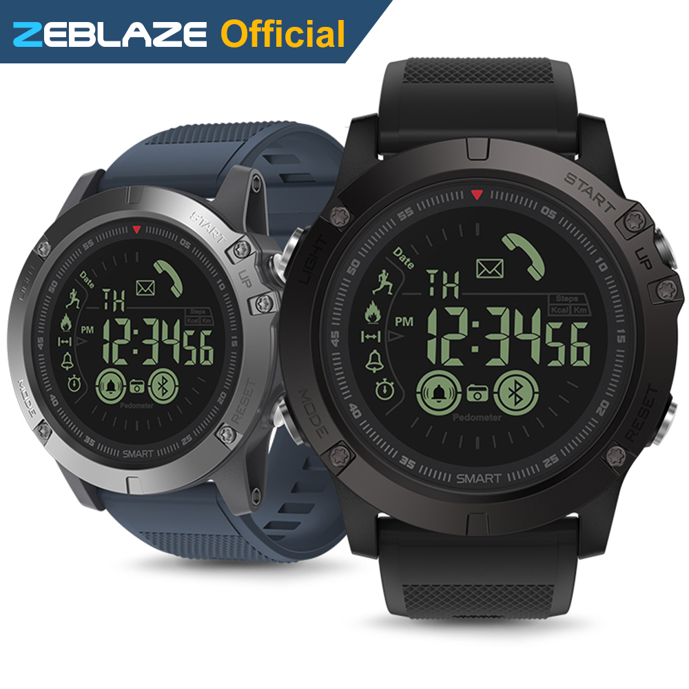 new zeblaze vibe 3 flagship rugged smartwatch 33 month standby time 24h all weather monitoring. Black Bedroom Furniture Sets. Home Design Ideas