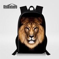 Dispalang 3D Printing Lion Animal Backpack For Men Children Schoolbag Back Pack Man Busniess Daypack Brand
