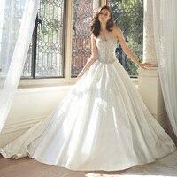 뜨거운 판매 손으로 만든 웨딩 드레스 새틴 여성 신부 볼