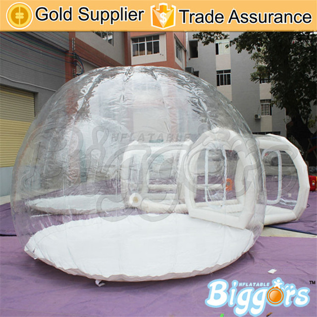 Envío Libre Por El Aire de Carga Al Aire Libre de Camping Carpa de Césped Inflable Burbuja Transparente Con Túnel