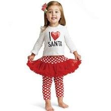 Baby Kids Girls Long Sleeve Tops Heart T-shirt + Polka Dot Lace Tutu Skirtpants Outfit 1-5Y 2019 kids heart polka dot tee