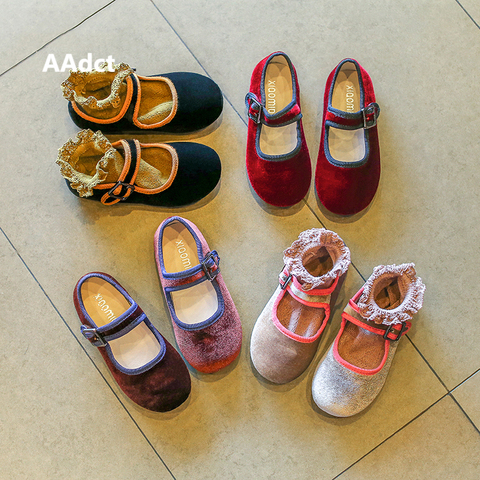 AAdct Spring Autumn little girls shoes Velvet soft sole Flats princess kids shoes for Baby girls Brand little children shoes Karachi