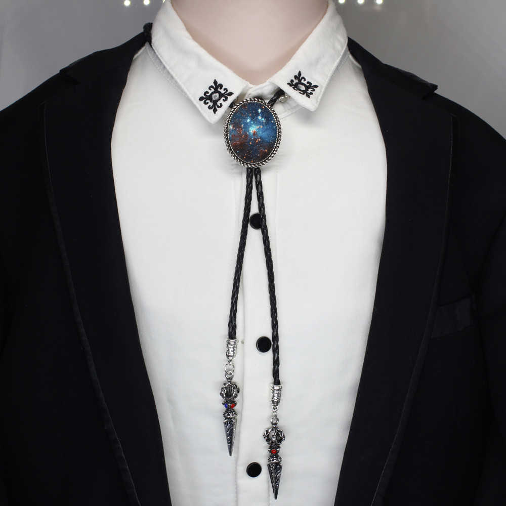 942449de3df1 HZSHINLING Nebula Bolo Tie necklace Antique galaxy Jewelry Space Astronomy Bolo  Tie Native American Neck Tie
