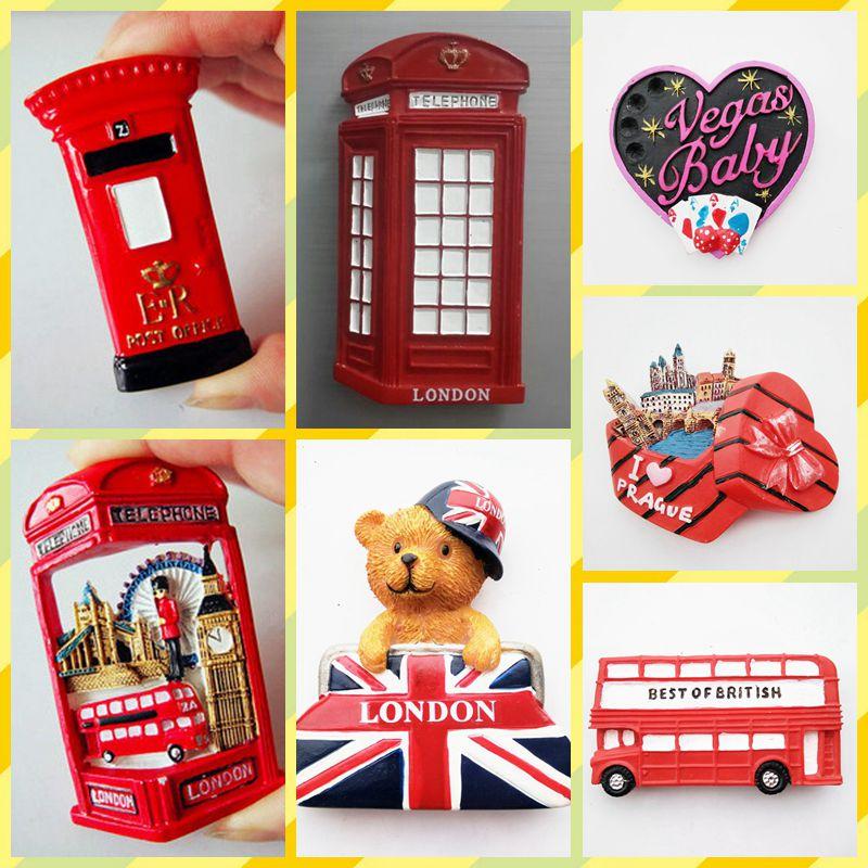 Tasuta kohaletoimetamine Kvaliteetset London Bear Post Guard telefonikabiini turistide jaoks mõeldud mänguasjakülmkapi auto kodukontori kaunistused Magnetkingitused