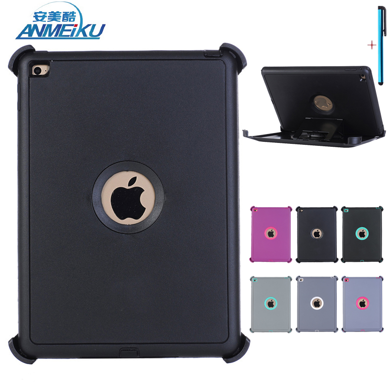 Fundas For ipad Air 2 Case Hybrid TPU+PC Cover Stand Tablet Protective Shell Shockproof Dazzle KickStand For iPad 6 Coque 9.7 in