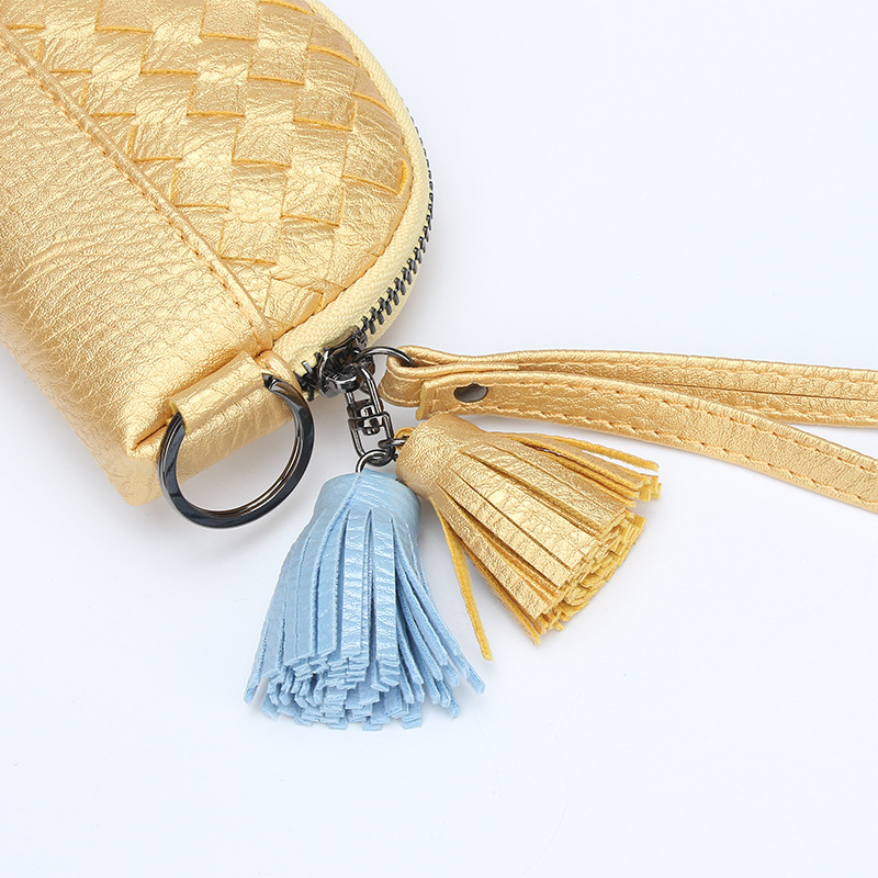 2018 New Zipper Small Coin Purse Mode Kvinnor Sticka Kort Mini Tassel - Plånböcker - Foto 4