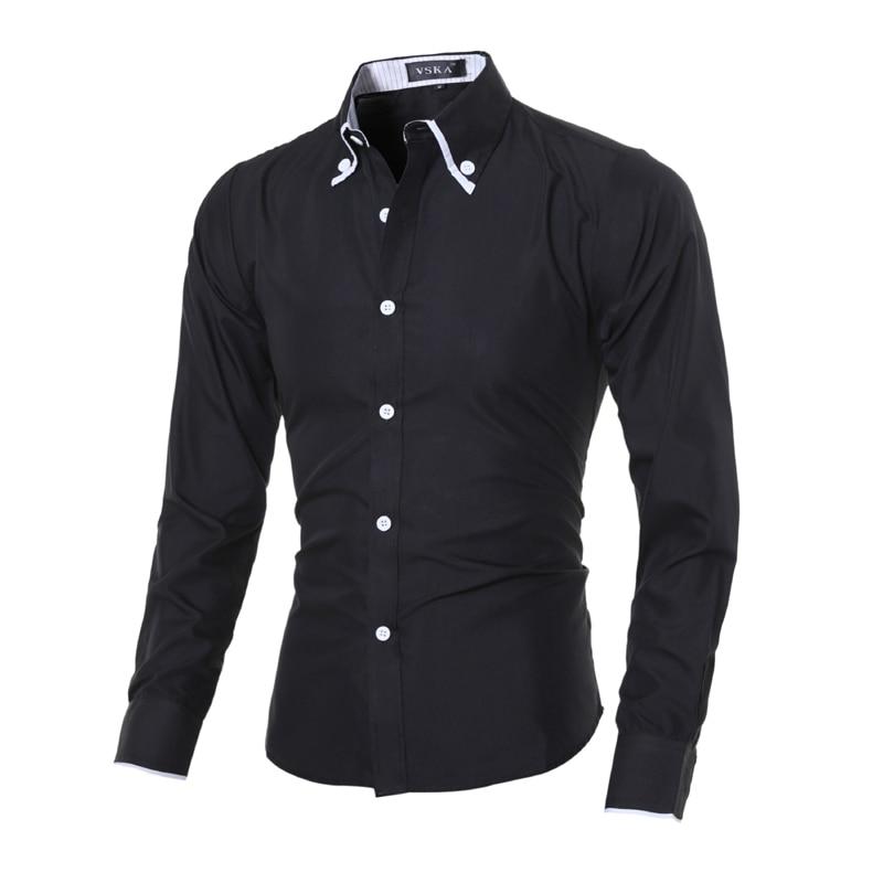 Nieuw 2018 Herenmerk Shirt Lange mouwen Casual Shirts Mode - Herenkleding
