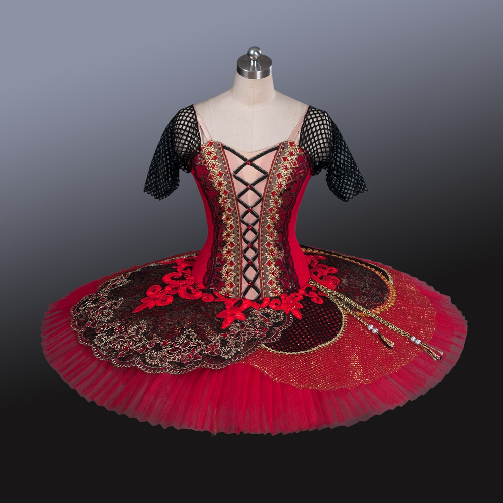 2016 Professionnel Tutus de Ballet Casse-Noisette Tutu Pour Performance Show Don Quichotte Rôle Rouge Tutu 12 Couches Kitri Costumes AT1225