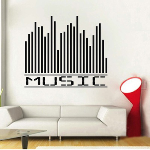 Music Equalizer Home Decoration Wall Art Decals Living Room