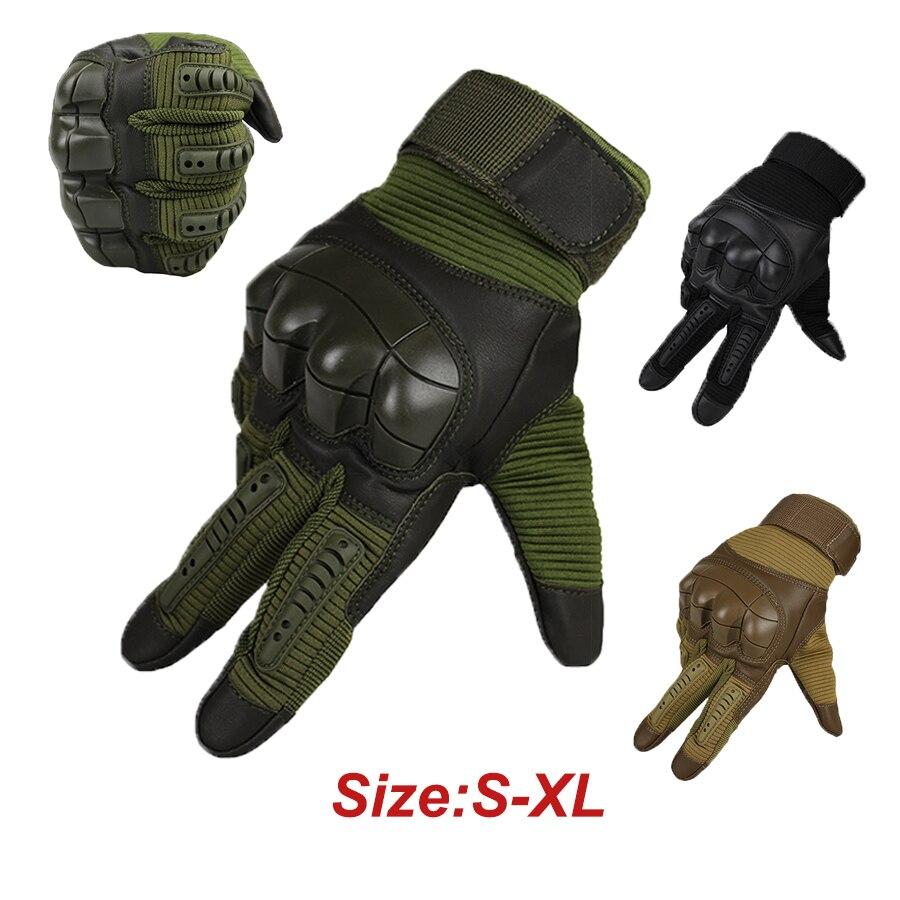 Bueno Guantes Tácticos Para Hombre Militar Ejército Airsoft Armor Protección Contra Escombros Guantes De Dedo Completo Senderismo Ciclismo Guante De Pantalla Táctil