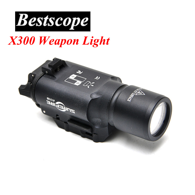 Element Tactical Light SF X300 Ultra LED Weapon Light For Hunting Riflescope Night Vision greenbase tactical weapon light sf x300 hunting flashlight airsoft pistol scout light constant momentary output picatinny rail