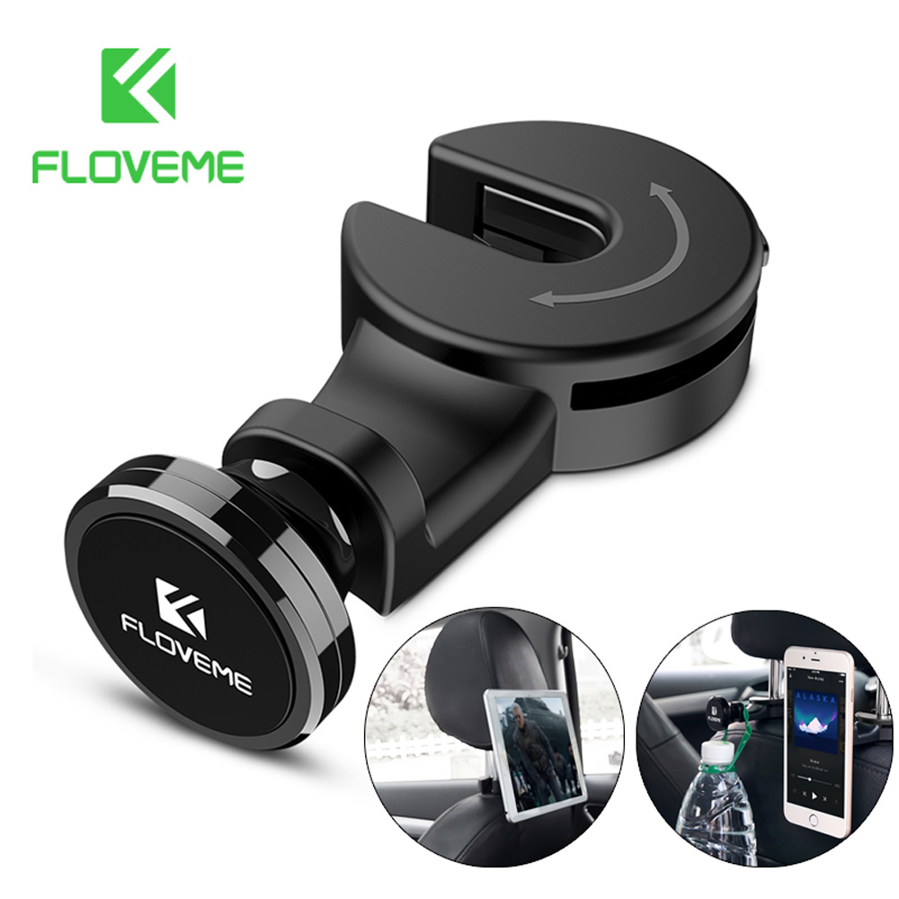 FLOVEME Universal Tablet Car Holder For iPad iPhone Magnetic Back Seat Holder Stand Tablet Accessories in Car Support Bag Hook